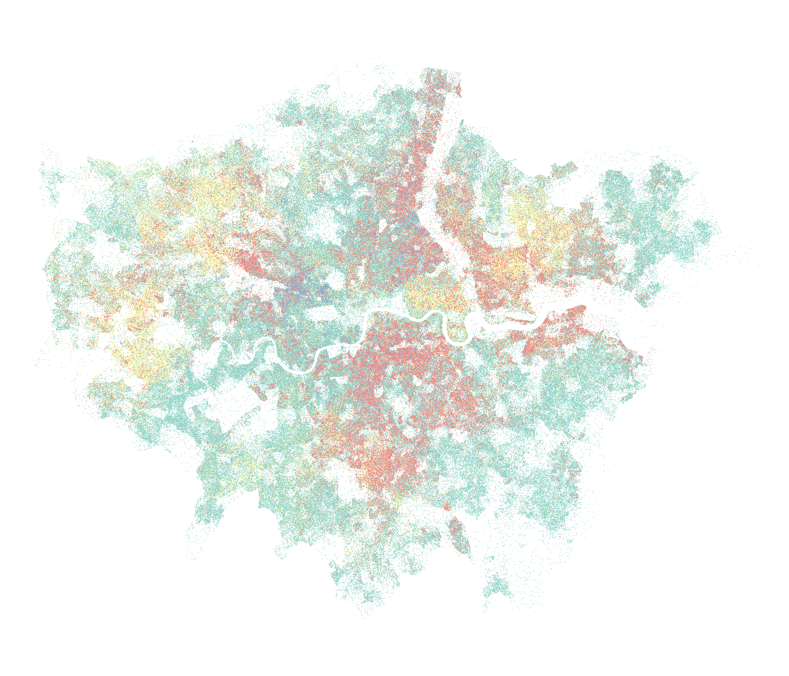 Building Dot Density Maps with UK Census Data in R